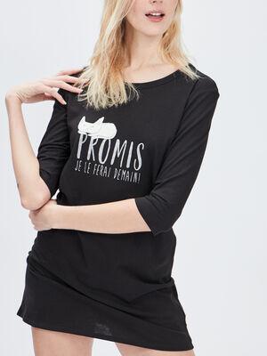 Chemise de nuit noir femme