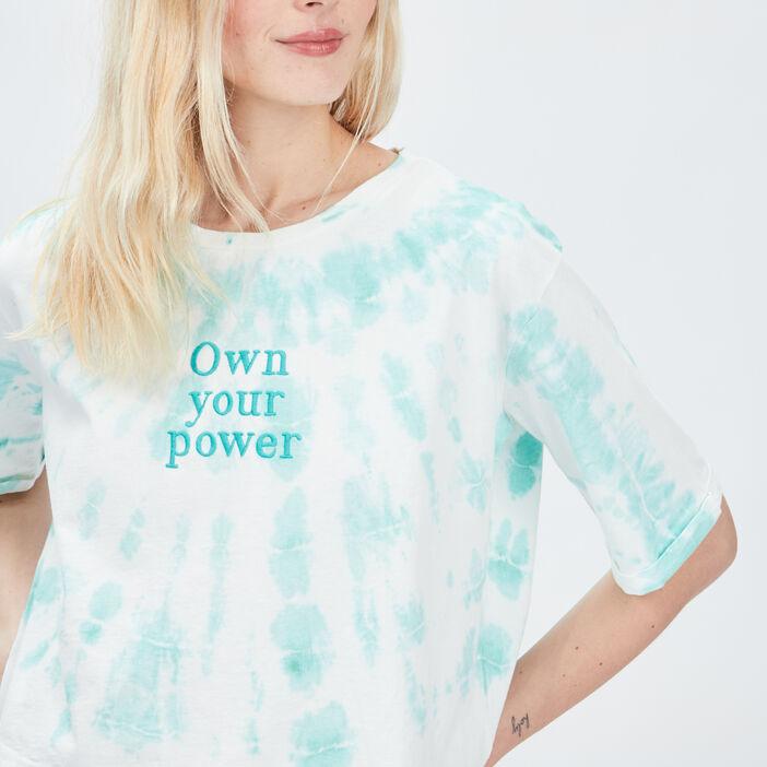 T-shirt Liberto femme bleu turquoise
