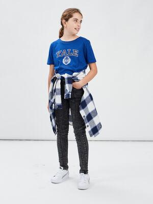 T shirt manches courtes Yale bleu fille