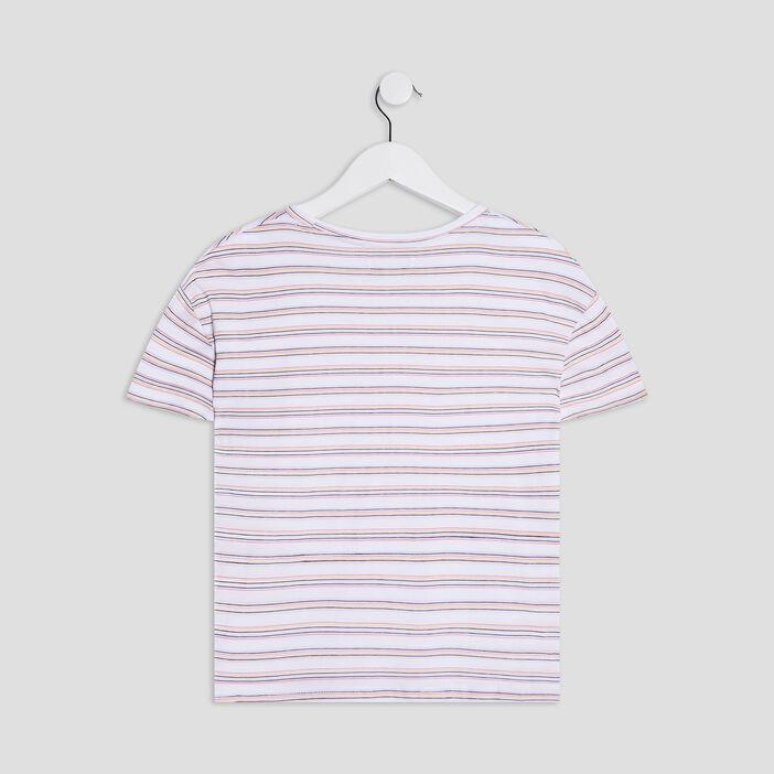 T-shirt manches courtes fille multicolore