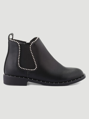 Bottines Chelsea decorations cloutees noir fille
