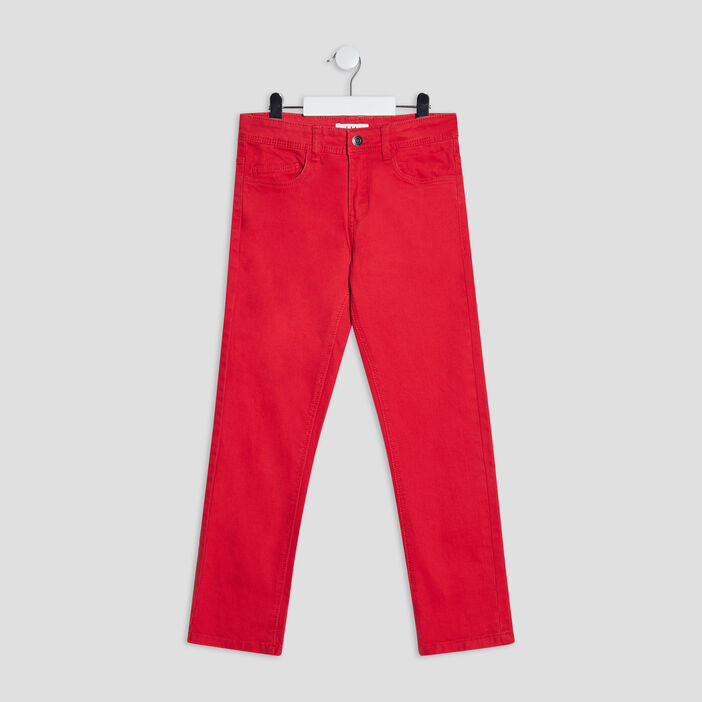 Pantalon regular garçon rouge