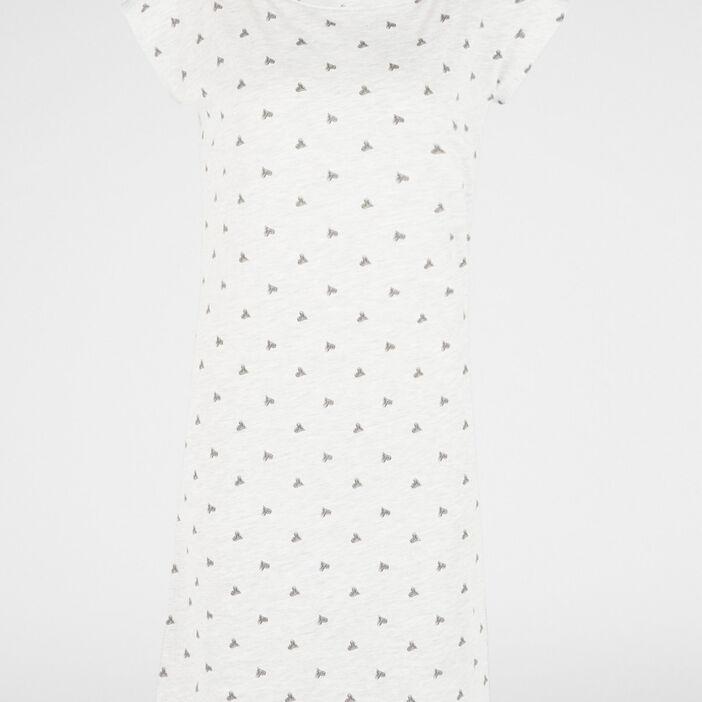 Chemise de nuit femme gris clair