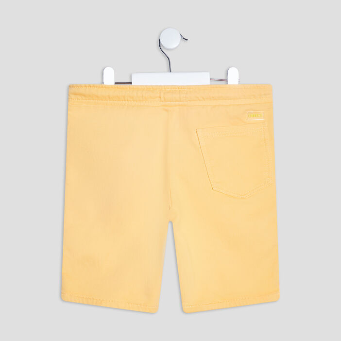 Short droit garçon jaune