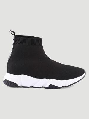Tennis chaussettes bicolores noir femme
