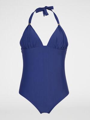 Maillot de bain 1 piece triangle bleu marine femme