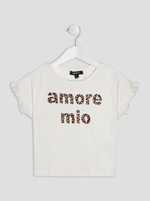 T shirt Liberto ecru fille