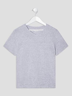 T shirt manches courtes gris garcon