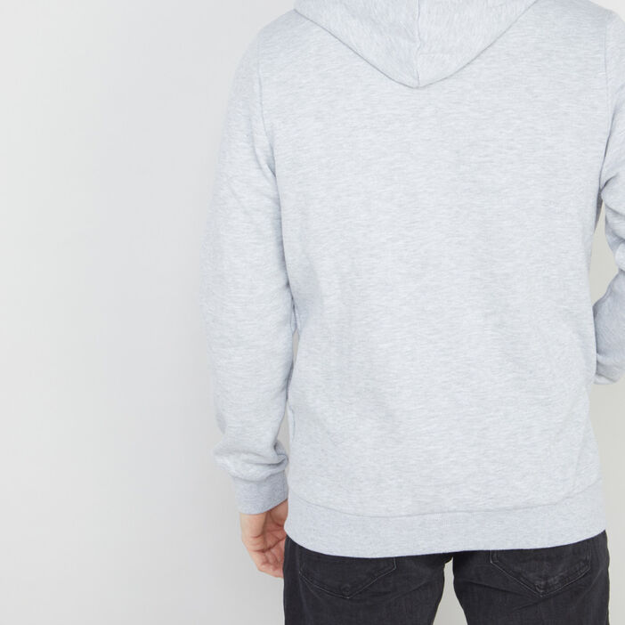 Gilet zippé à capuche uni homme gris