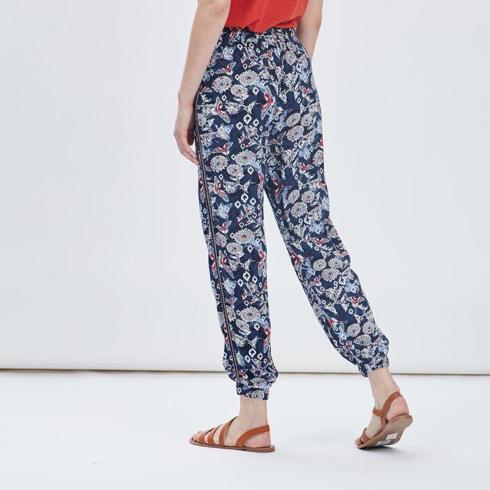 Pantalon droit fluide femme multicolore