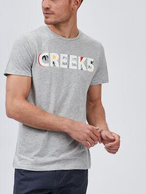 T shirt manches courtes Creeks gris homme