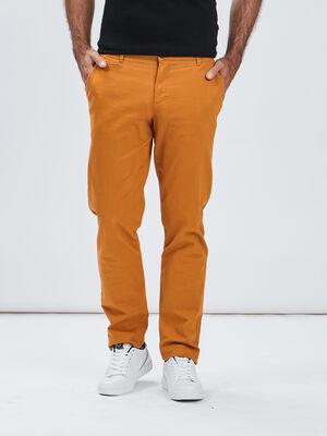 Pantalon regular jaune moutarde homme