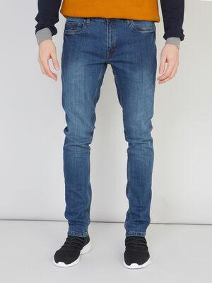 Jean slim 5 poches gris homme