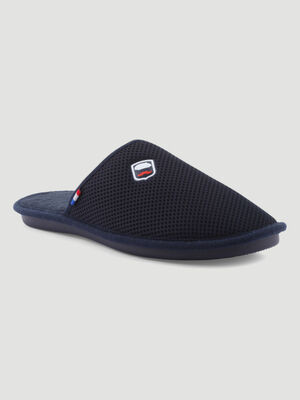 Chaussons mules bleu marine homme