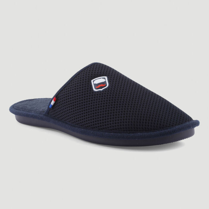Chaussons mules homme bleu marine