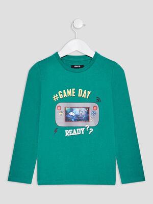 T shirt Liberto vert garcon