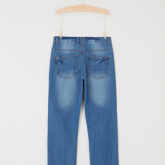 Jeans regular effet délavé garçon denim double stone