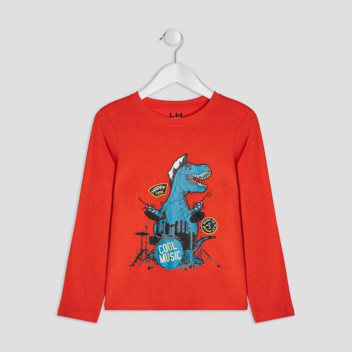 T-shirt manches longues garçon orange
