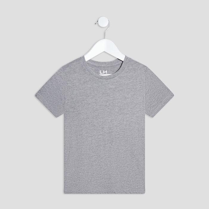 T-shirt manches courtes garçon gris fonce