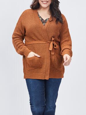 Gilet Modavista grande taille marron femmegt