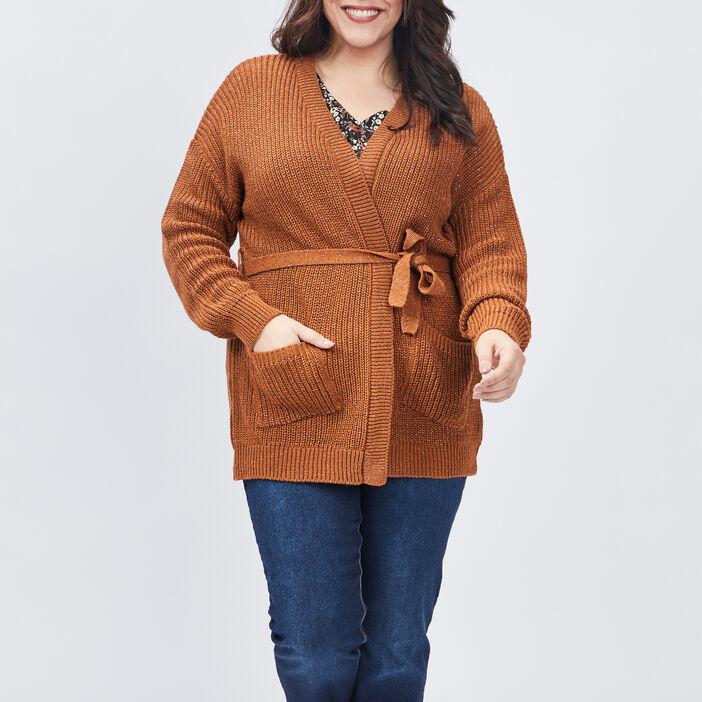 Gilet Modavista grande taille femme grande taille marron