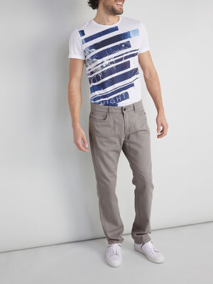 Pantalon droit gris homme