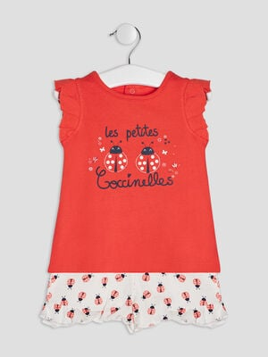 Ensemble 2 pieces rouge bebef