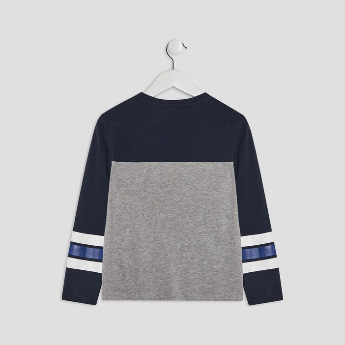 T-shirt manches longues Creeks garçon gris