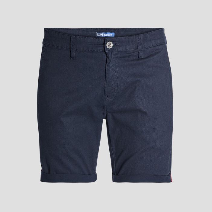 Bermuda droit homme bleu marine
