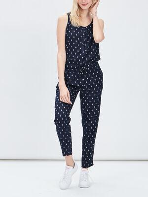 Combinaison pantalon 78eme bleu marine femme