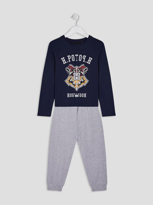Pyjama 2 pieces Harry Potter bleu marine garcon