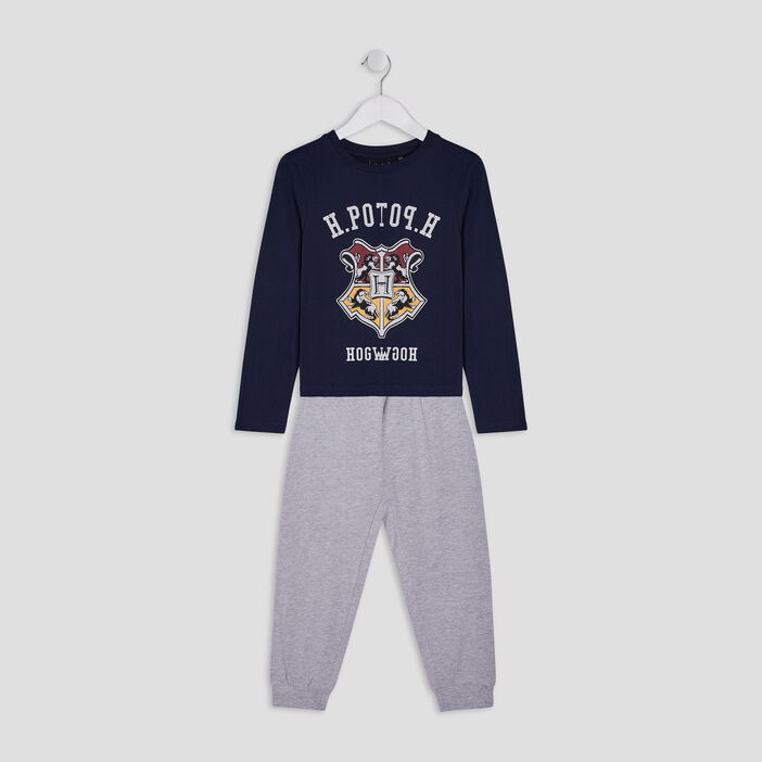 Pyjama 2 pièces Harry Potter garçon bleu marine