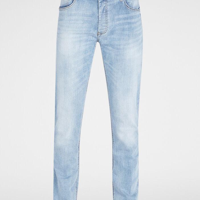 Jeans regular effet délavé homme denim bleach