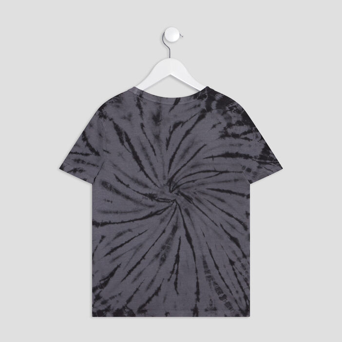 T-shirt tie and dye garçon noir