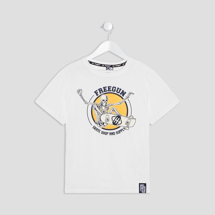 T-shirt Freegun garçon ecru