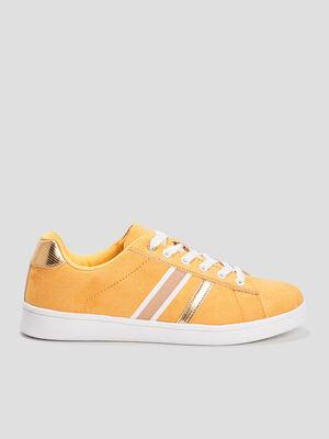 Tennis jaune moutarde femme