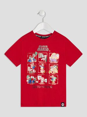 T shirt manches courtes Mario rouge garcon