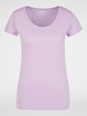 T shirt chine coton majoritaire parme femme