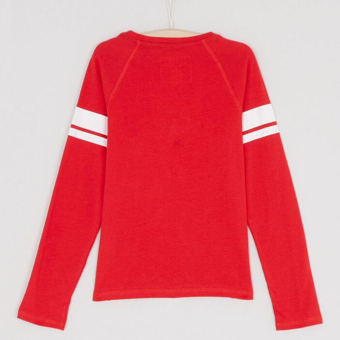 T-shirt chiné logo imprimé garçon rouge