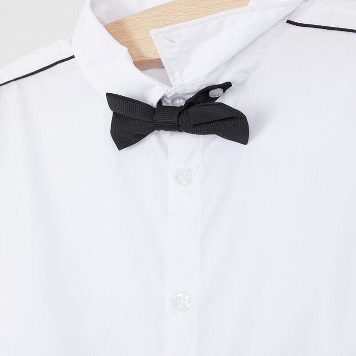 Chemise nœud papillon coton mélangé garçon blanc