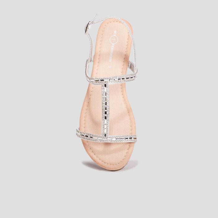 Sandales Mosquitos femme couleur argent