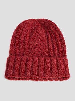 Bonnet rouge femme