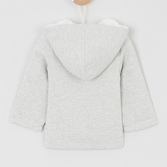 Veste zippée à capuche bébé garçon gris