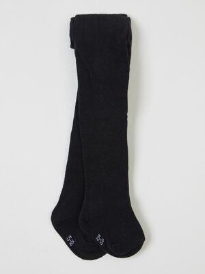 Collants unis coton majoritaire noir mixte