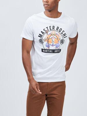 T shirt Dragon Ball Z blanc homme