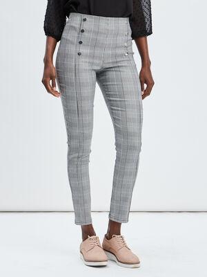 Pantalon slim a pont multicolore femme