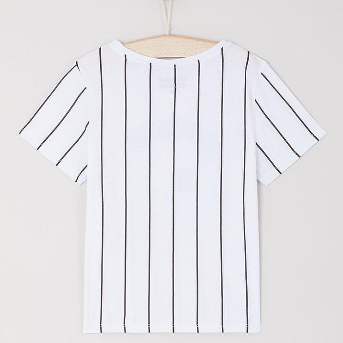 T-shirt Riverdale coton et modal fille blanc