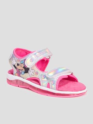 Sandales Minnie couleur argent fille