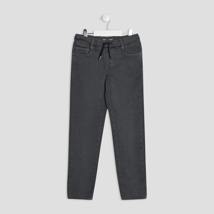 Pantalon jegging à coulisse garçon vert kaki