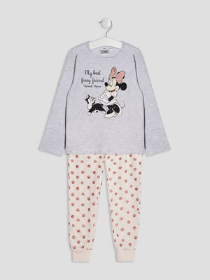 Ensemble pyjama Minnie gris fille